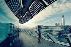 Looking Out (martinturner) Tags: city bridge house london tower glass thames skyline river solar hall photographer open dynamic angle south group wide bank fisheye normanfoster penthouse panels 8mm shard development southwark gla morelondon tallest greaterlondonauthority mayoroflondon 2011 londonassembly londonslivingroom samyang sellar martinturner londonbridgequarter
