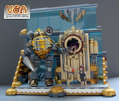 Bioshock for BrickCon 2011 (V&A Steamworks) Tags: game daddy video big lego little sister va steamworks moc bioshock brickcon