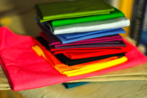 Rainbow fat quarters