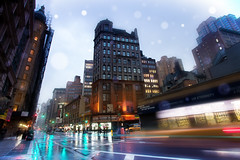 'Slick Streets', United States, New York, New York City, Broadway, Rainy Night