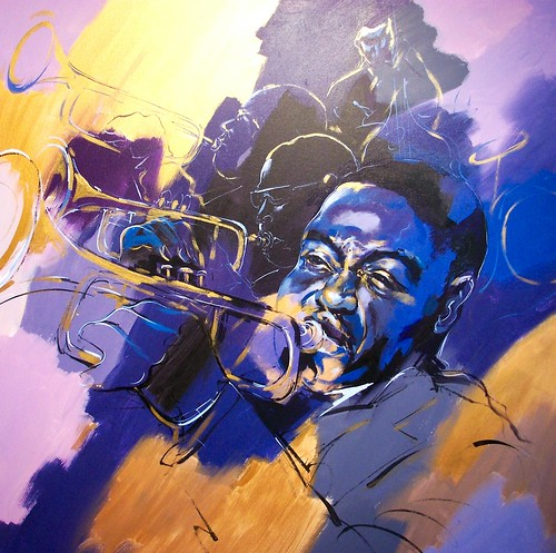 Sax Player = Painting