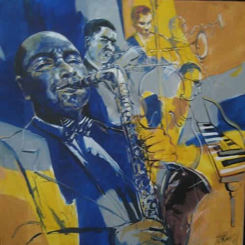Jazz Plsyers - Painting