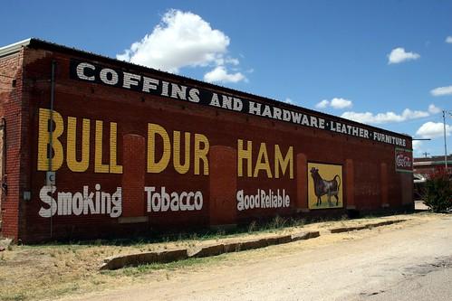 repainted bull durham ad