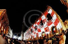 002244 D 300 HDR (Massimo Marchina) Tags: street city red italy white architecture night landscape nikon europe italia fisheye 105 hdr paesaggio vicenza veneto d300 piazzadeisignori affisheyenikkor105mm128geddx laruaavicenza nikon105millimetrif28fisheye