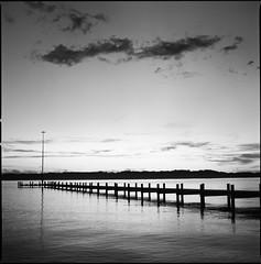 * (martin_jaeger) Tags: 6x6 film analog mnchen bayern see wasser sommer himmel wolken hasselblad medium format starnberger steg 500cm mittelformat