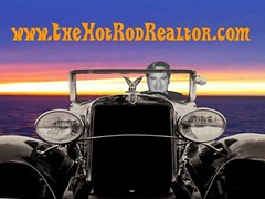 TheHotRodRealtor KentWeinstein Chevy Stretch Sunset in Car - Copy (TheHotRodRealtor) Tags: