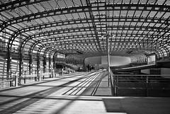Porta Susa #5 (cheip) Tags: bw italy station train torino italia bn turin stazione treno architettura