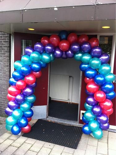 Ballonboog 5m Rood, Groen, Paars en Blauw