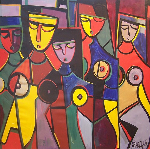March of Colour - Painting - Cubism
