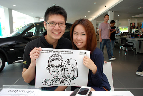 Caricature live sketching for Performance Premium Selection first year anniversary - day 3 - 13