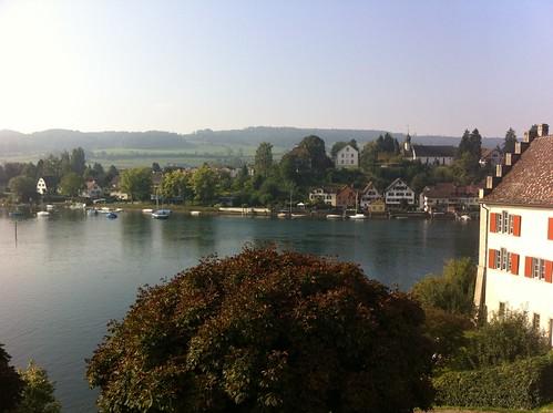 View from my hotel room in Stein am Rhein