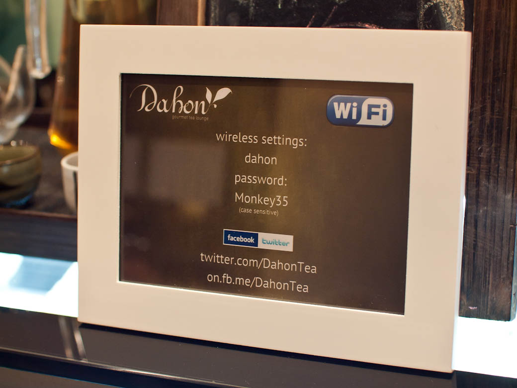 Dahon Tea Lounge - Wifi available