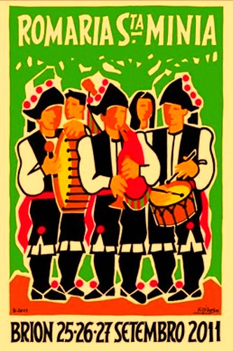 Brión 2011 - Romaría de Santa Minia - cartel pequeno