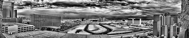 Imperial Palace Tower 4 panorama (black and white infrared) - taken with a Nikon D200 IR-converted camera and Nikon 18-200 VR lens