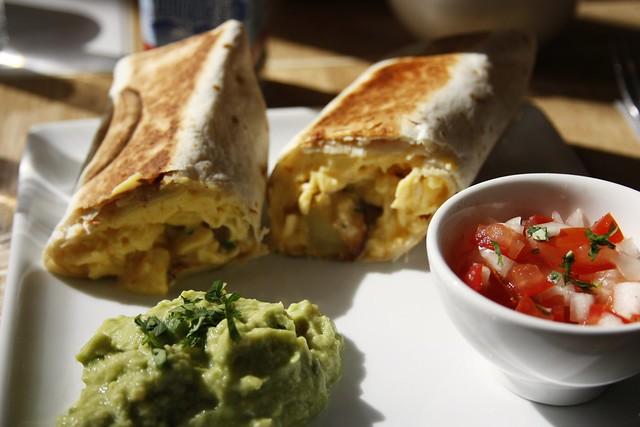 Coutume Café breakfast burrito
