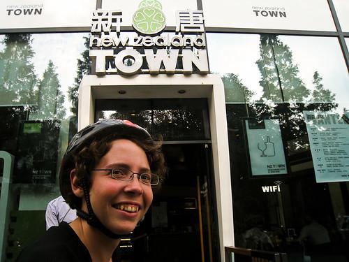 Emma at New Zealand town