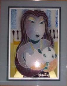 Chiquita Bonita - Painting Original Plexiglass