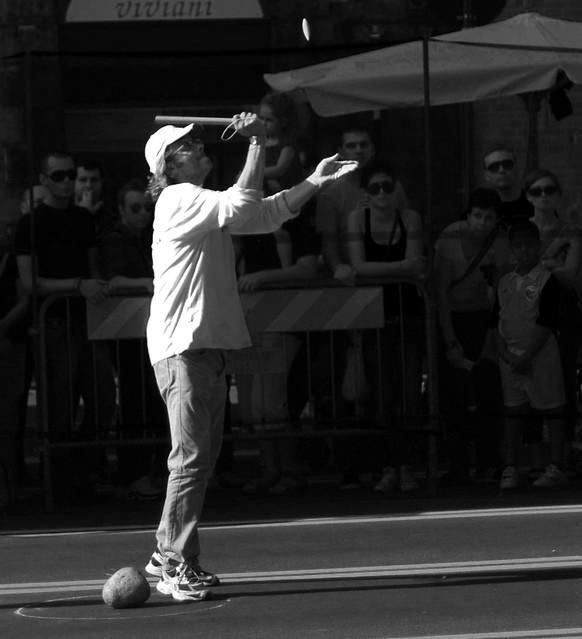 Giocatore di Sciànco al Tocatì 2011 di Verona