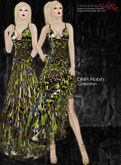 DNR Robin V Poster Green (designingnickyree) Tags: clothing dresses gowns apparel nickyree slfashion resortfashion dnrrobincollection