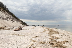 Coastal Bluff and Glacial Erratics (sandy richard) Tags: usa newyork unitedstates geology wildwood calverton wildwoodstatepark newyorkstateparks sandyrichard longislandgeology sandrarichard