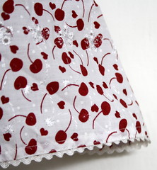 Sew - Cherry Print Dress - RicRac Hem
