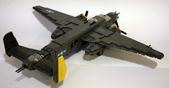 B-25 J from 4'o clock high (Babalas Shipyards) Tags: army force lego aircraft military air mitchell worldwar2 b25 moc minifigurescale