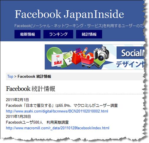 Facebook 統計情報