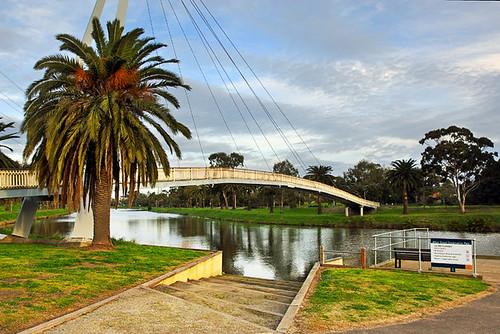 Afton Street Footbridge, Maribyrnong River, Essendon, Victoria, Australia IMG_2423_Maribyrnong_River