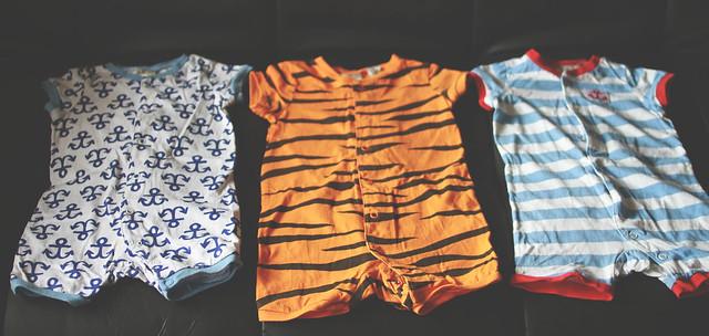 H&M baby onesies