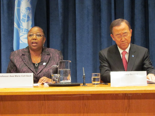 Press conference with the UN Secretary General Ban Ki-moon