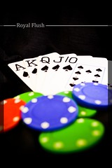 """The Royal Flush"" (MHTashrif) Tags: blue red black green cards royal chips poker flush rgb royalflush"