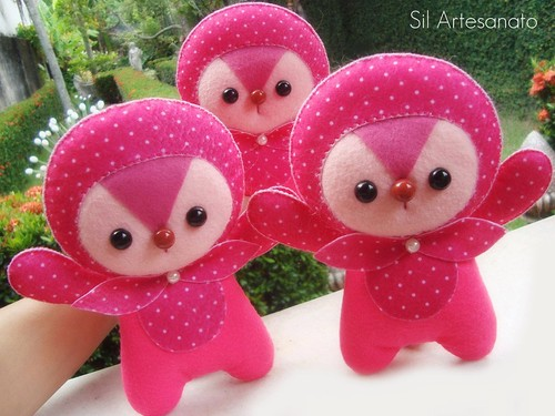 Esquilinhos Pink by Sil Artesanato