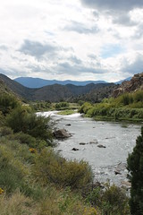A Peaceful Corner (Nina Marie's Photography) Tags: mountains green nature clouds river outside outdoors freedom colorado pretty view cloudy rocky bushes bushy