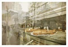 Patisserie  (Rox ) Tags: paris texture canon vintage eos patisserie fantasia 1900 croissant tempo dolci torte rossella parigi immaginare pasticceria riflesso vetrine belleepoque ombrelli emozione 550d inguscio