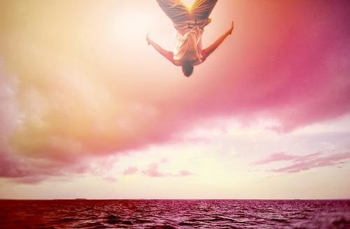 フリー写真素材, 人物, 人と風景, 男性, 海, 飛び込む・ダイブ,