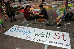 Pancarta de Occupy Wall Street