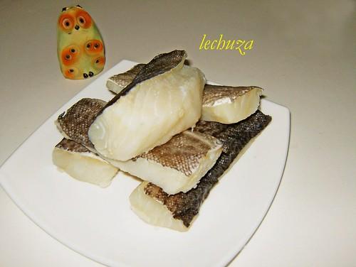 Bacalao en salsa de pimientos verdes-crudo