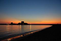 Riflessi (Silva Marras) Tags: sardegna red tramonto mare blu rosso bosa picnik calmo bosamarina