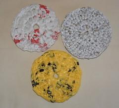 Round Plastic Scrubbies