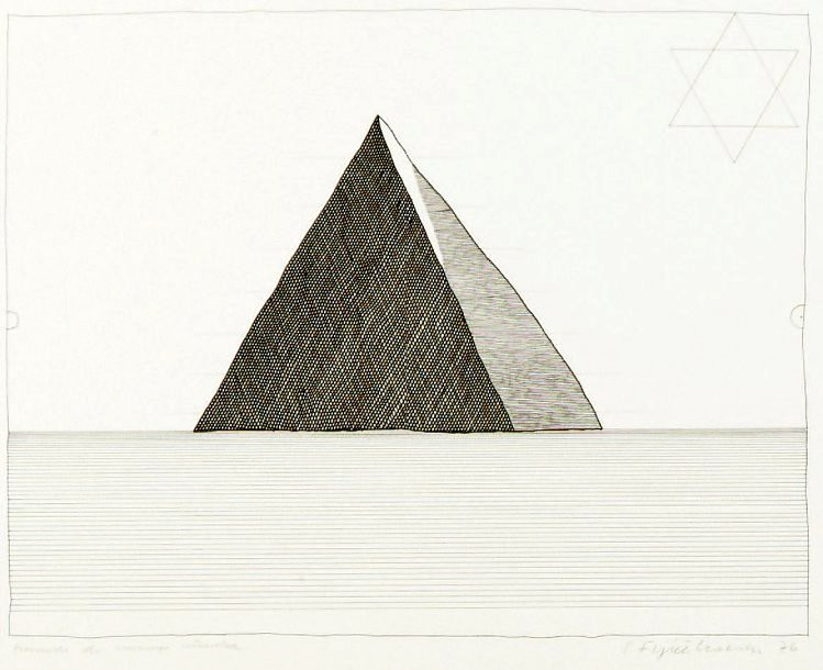Fijalkowski, Stanislaw (1922- ) - 1976 Pyramid for a Tired Man (Private Collection)