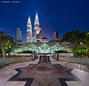 Geometrical Harmony (DanielKHC) Tags: city travel blue vertical architecture night digital nikon cityscape mosque hour malaysia kuala dri klcc lumpur blending d300 as syakirin danielcheong danielkhc vertorama tokina1116mmf28 panoramal