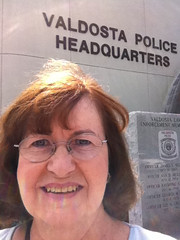 Year 5~Day 302 +273/365 AND Day 1763: LIR Class - Tour of Valdosta Police Headquarters (Old Shoe Woman) Tags: selfportrait me georgia ofme lir vsu 365days learninginretirement valdostapoliceheadquarters