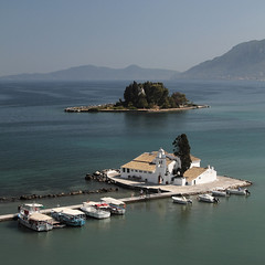 the obligatory corfu photo (wunderskatz) Tags: sea landscape mouse island photo greece monastery common peninsula corfu ionian kanoni pontikonisi κέρκυρα kérkyra vlacheraina