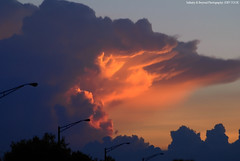 Sunlit Underside of Thunderstorm Cloud Anvil. *Explored* (Infinity & Beyond Photography: Kev Cook) Tags: sunset sky cloud storm photo interestingness flickr explore thunderstorm sunlit thunder anvil explored