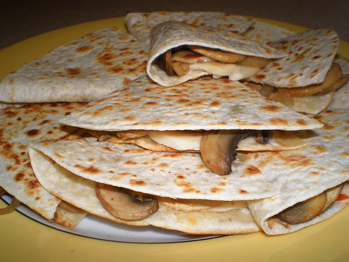 Mushroom and Soy Cheese Quesadillas