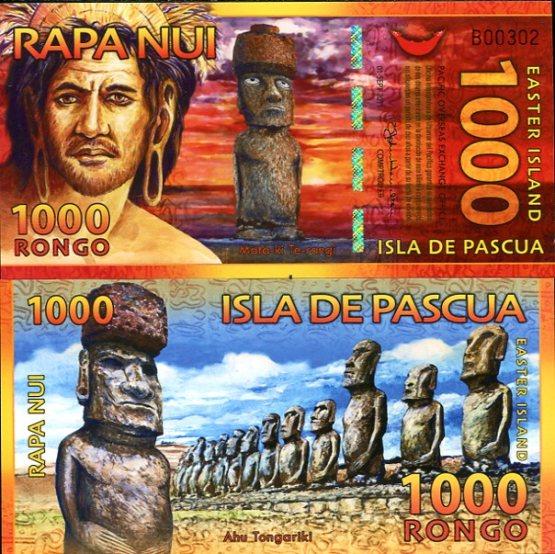 1000 Rongo Veľkonočný ostrov 2011 polymer