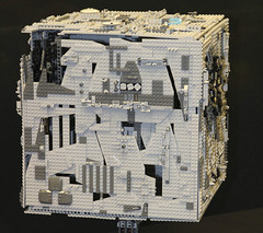 LEGO Star Trek Borg Cube by Derek and Arjun at Brickcon 2011 (FlintWeiss) Tags: seattle startrek lego 2011 borgcube brickcon derekandarjun