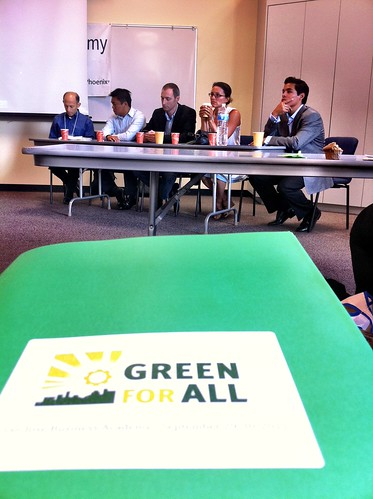 Green Business Academy impact investors panel