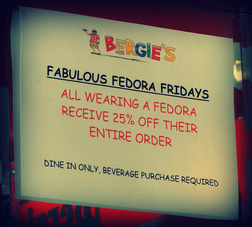 Fabulous Fedora Fridays at Bergie's