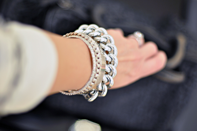 silver chain bracelets and bangles